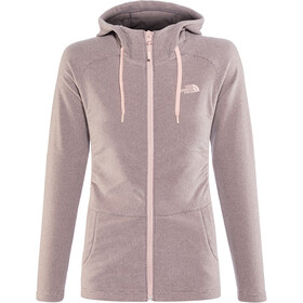 The North Face Mezzaluna Full Zip Hoodie Dam rabbit grey stripe